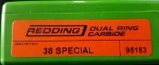 95183 38 Special Redding Dual Ring Carbide Sizer