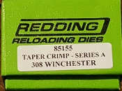 85155 Redding 308 Winchester 7.62x51mm Taper Crimp Die