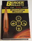 Berger Reloading Manual 1st Edition
