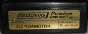 68111 Redding 3-Die PREMIUM Deluxe Die Set 223 Remington