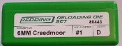 80443 Redding 2-Die Full Length Die Set 6mm Creedmoor