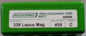 80594 Redding 2-Die Full Length Die Set 338 Lapua Magnum
