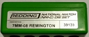 39139 Redding National Match Die Set 7mm-08 Remington