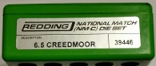 39446 Redding National Match Die Set 6.5 Creedmoor