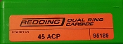 95189 45 ACP Redding Dual Ring Carbide Sizer