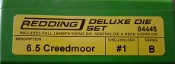 84446 Redding 3-Die Full Length/Neck Die Set 6.5 Creedmoor