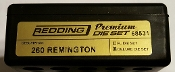 68531 Redding 3-Die PREMIUM Deluxe Die Set 260 Remington