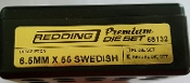 68132 Redding 3-Die PREMIUM Deluxe Die Set 6.5mm x 55 Swedish