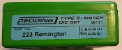 36111 Redding Type-S Match Bushing Full Die Set 223 Remington