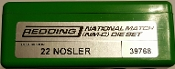 39768 Redding National Match Die Set 22 Nosler