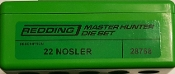 28768 Redding Master Hunter Die Set 22 Nosler