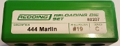 80207 Redding 3-Die Full Length Die Set 444 Marlin