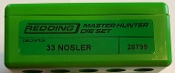 28799 Redding Master Hunter Die Set 33 Nosler