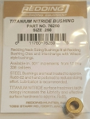 76250 Redding Titanium Nitride Neck Size Bushing