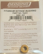 76251 Redding Titanium Nitride Neck Size Bushing