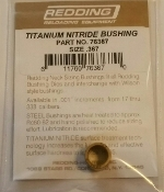 76367 Redding Titanium Nitride Neck Size Bushing