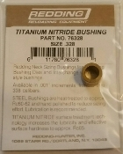 76328 Redding Titanium Nitride Neck Size Bushing