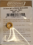 76331 Redding Titanium Nitride Neck Size Bushing
