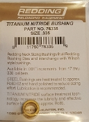 76335 Redding Titanium Nitride Neck Size Bushing