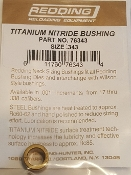 76343 Redding Titanium Nitride Neck Size Bushing