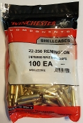 WSC22250U Winchester Brass 22-250 Remington Bag of 100