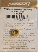 76294 Redding Titanium Nitride Neck Size Bushing