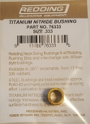 76333 Redding Titanium Nitride Neck Size Bushing