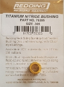 76305 Redding Titanium Nitride Neck Size Bushing