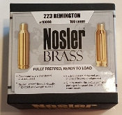 10098 Nosler Custom 223 Remington Cartridge Brass Box of 100