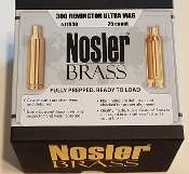 11940 Nosler Custom 300 Rem Ultra Mag Cartridge Brass Box of 25