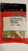 WSC357MU  Winchester 357 Magnum Brass Bag of 100