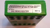 39114 Redding National Match Die Set 243 Winchester