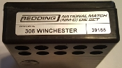 39155 Redding National Match Die Set 308 Winchester