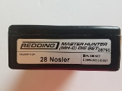 28790 Redding Master Hunter Die Set 28 Nosler