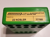 77768 Redding Type-S Full Length Bushing Size Die 22 Nosler