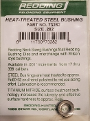 73282 Redding Heat Treated Steel .282 Neck Size Bushing